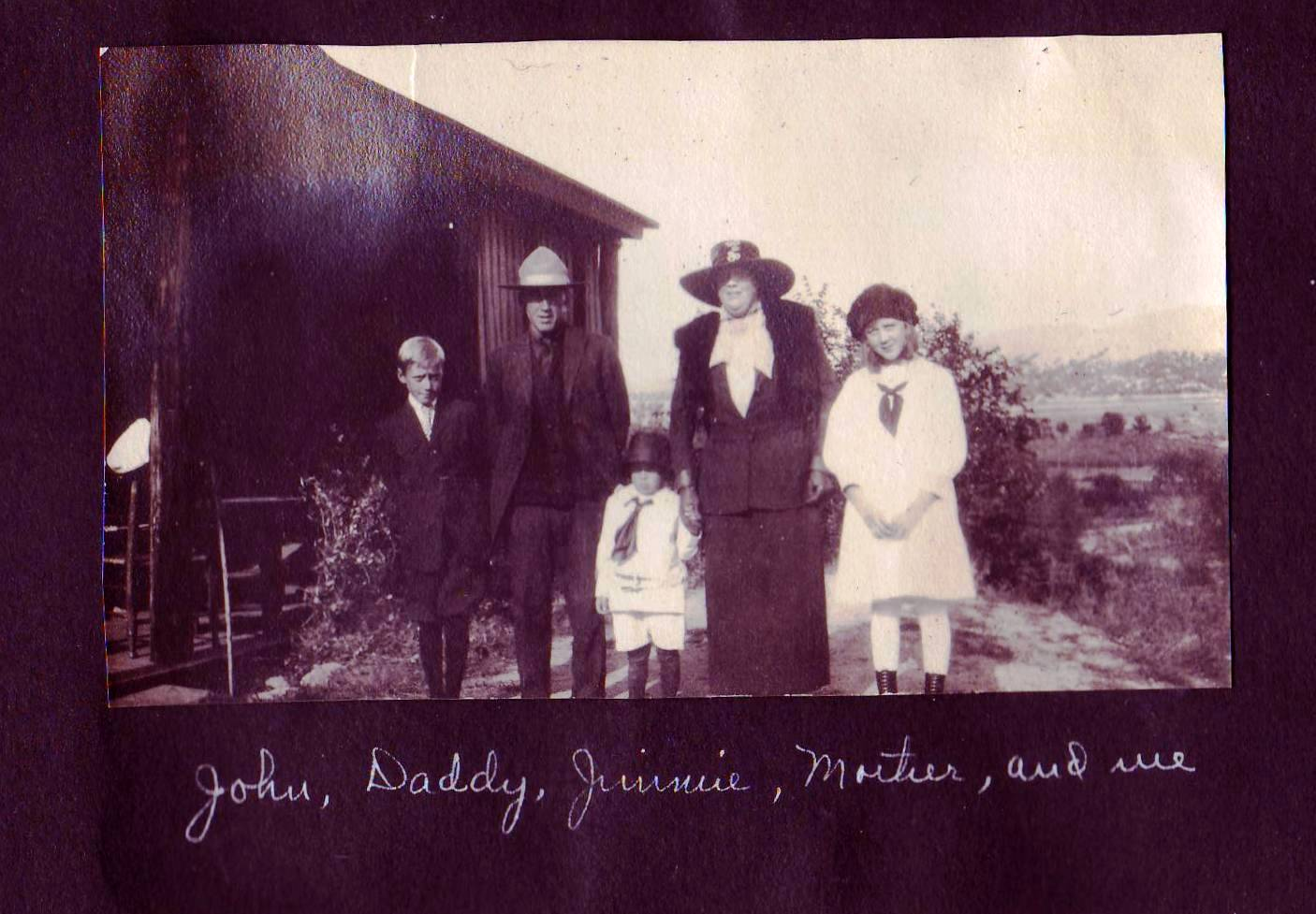 Jean III, Jean Jr, Jimmy, Julia, and Elizabeth Circa 1918
